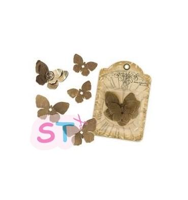 Seis Mariposas Metálicas de Graphic 45