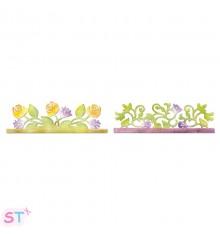 Troquel tira decorativa Botánica y Jardín