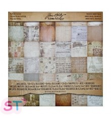 Paper pad French Industrial Tim Holtz 12x12 Idea-ology
