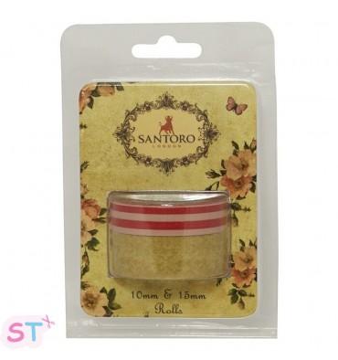 Dos washi tape Santoro - Mirabelle Amarillo