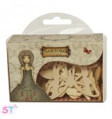 Mariposas de madera Santoro-Mirabelle