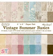 Paper pad Vintage Summer Basics 6x6