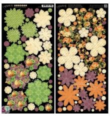 An Eerie Tale Flowers Cartulina precortada Graphic 45