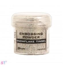 Polvo de emboss Snowflake Tinsel