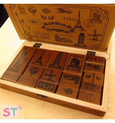 Set de diecisiete sellos Making Memories