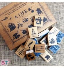 Set de veintiún sellos A Life