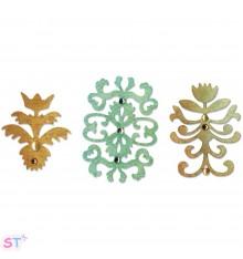 Floral Insignia Set 3 piezas