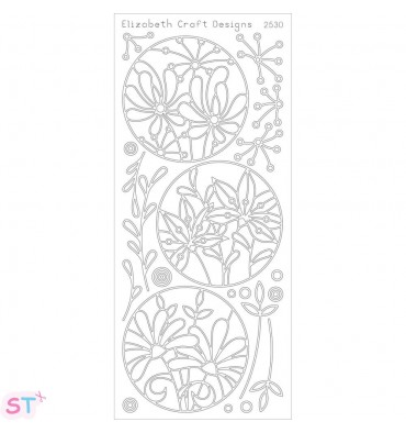 Sticker Flower Circle Frames Negro