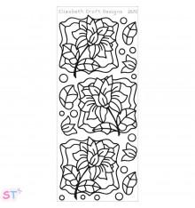 Sticker Flower Labels 2 Negro