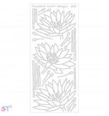 Sticker Waterlilies Negro