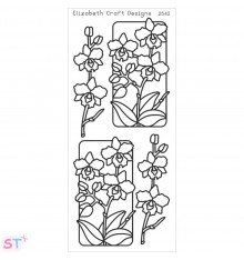 Sticker Flowers In Frames 3 Negro