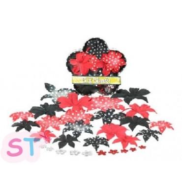 Flores de Tela Pequeña Dalia Mickey Rojo,Negro