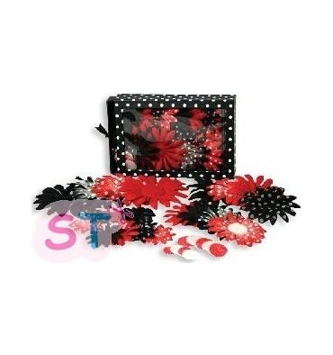 Flores de Tela Grandes Mickey Red/Black