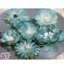 Mixed Blooms Blue x 6
