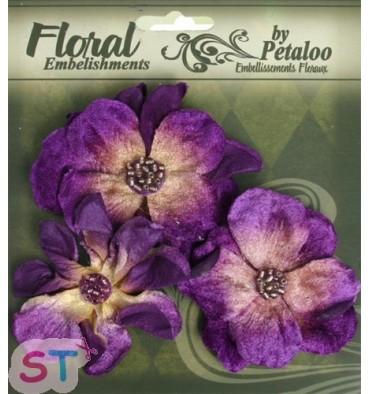 Velvet Wild Roses Purple x 3