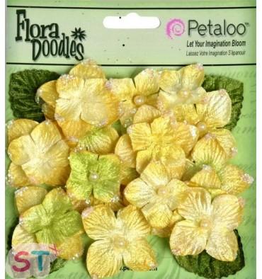 Velvet Hydrangeas Canary Yellow