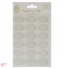Epiphany Crafts Clear Bubble Caps Ovaladas