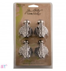 Cuatro Metal Box Feet de Tim Holtz Idea-Ology