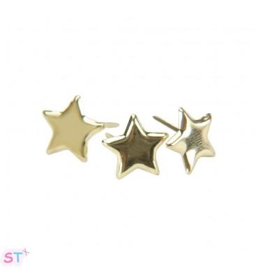 Brads Metálicos Estrellas Doradas