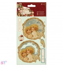 Victorian Christmas Mini Decoupage Angels