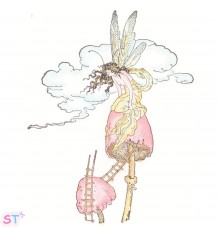 Sello Fairy in a Mushroom