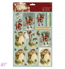 Victorian Christmas A4 Decoupage Santa