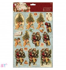 Victorian Christmas A4 Decoupage Trees