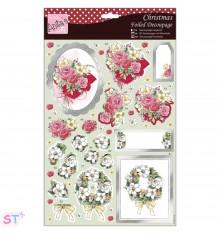Anita's Christmas A4 Decoupage Festive Flowers