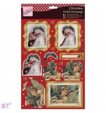 Anita's Christmas A4 Decoupage Joyeux Noel