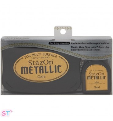 Tinta Stazon Metallic Kit Dorada