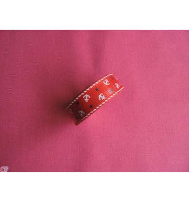 Fabric tape Anclas Rojo