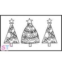 Sello Christmas Trees
