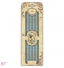 Santoro Mirabelle Deco Mache 3 hojas Blue Stripes