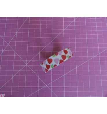 Fabric tape Corazones Rosas y Rojos