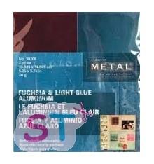 Hoja creative metal rosa y azul claro