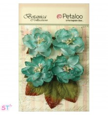 Botanica Sugared Blooms Teal x 4