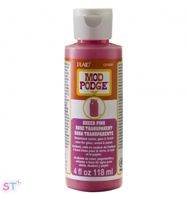 Mod Podge Sheer Color Pink 4 oz.