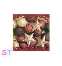 5 Servilletas de Papel Glamorous Christmas