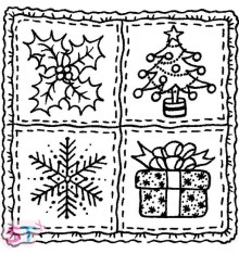 Sello Christmas Squares