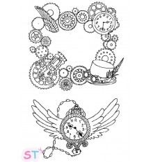 Sello Steampunk Border and Watch