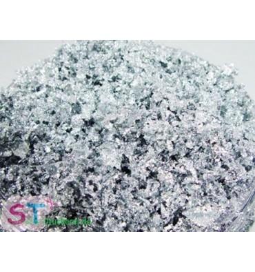 Copos metalizados (muy finos) plata