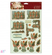 Victorian Christmas A4 Decoupage House