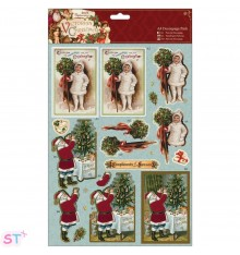 Victorian Christmas A4 Decoupage Holly