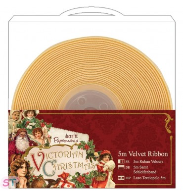 Victorian Christmas Cinta de Terciopelo Amarilla