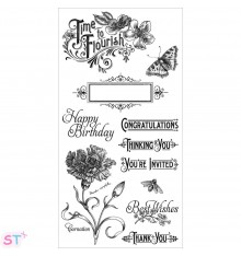 Sellos Time to Flourish 1 Graphic 45