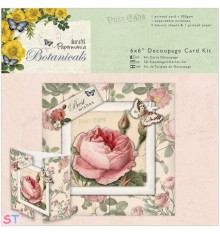 Papermania Botanicals 6x6 Decoupage Card Kit