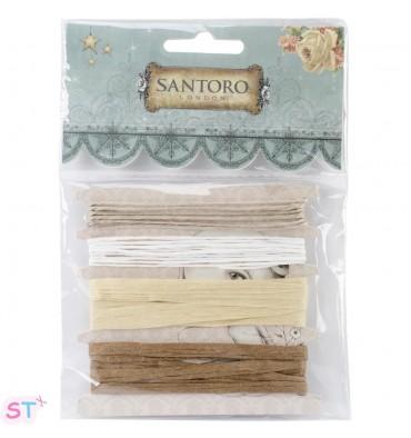 Cuatro cintas de Yute y Rafia Santoro