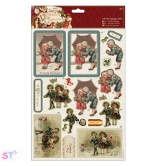 Victorian Christmas A4 Decoupage Children