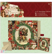 Papermania Victorian Christmas 6x6 Decoupage Card Kit