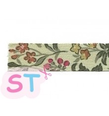 Fabric tape Wild flower green